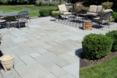 Bluestone Patio with Cultured Stone Piers in Southampton, NJ (2)