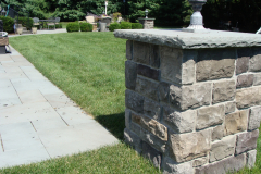 Bluestone Patio with Cultured Stone Piers in Southampton, NJ (3)