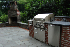 Stone Patio, Fireplace and Cooking Station in Moorestown, NJ  (2)