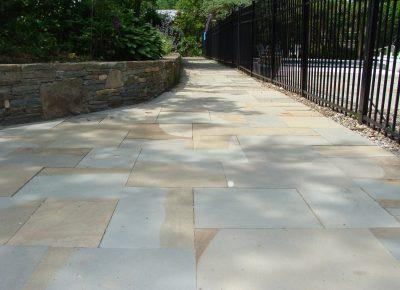 Bluestone Garden Walls and Patio in Moorestown, NJ