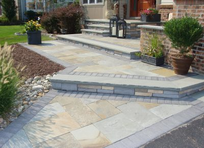 Bluestone Step and Entrance in Mt. Laurel, NJ