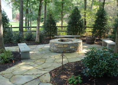 Hardscaping and Firepit in Mt. Laurel, NJ