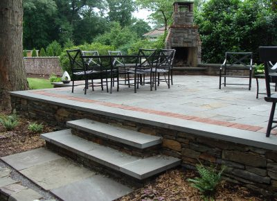 Stone Patio, Fireplace and Cooking Station in Moorestown, NJ