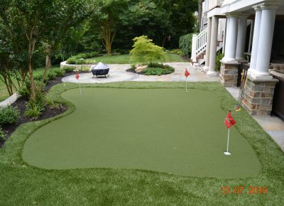 Synthetic Putting Green in Moorestown, NJ